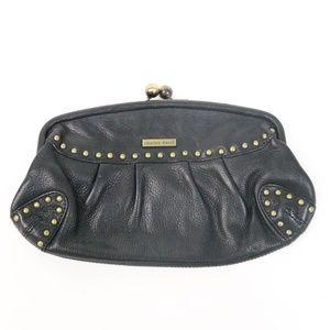 Charles David Black Leather Clutch v018